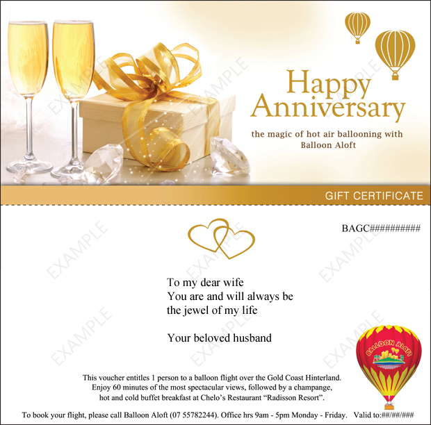 Wedding Gift Vouchers : Wedding Anniversary Gifts: Wedding Anniversary Gift Vouchers
